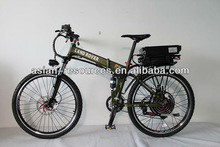 Wholesale New Off Road Electric Bike 48V 1000W Foldable Frame + 48V 20Ah Rear Rack Li-ion Battery in Flat Aluminium Case