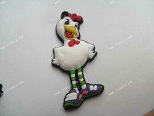 3d chicken hen pvc rubber fridge magnet