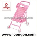 Loongon Babybuggy-Spaziergängerpuppe Pram-Spielzeugmodell
