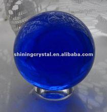 high quality blue lucky magic crystal ball