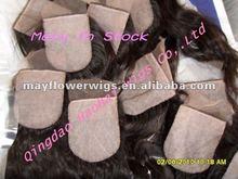 100% virgin remy human hair silk base top closure accept paypal