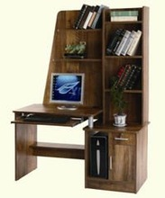 Wooden office furniture desk with Bookshelf