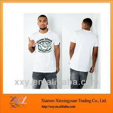 Men White O-neck Hemp/Cotton T-shirts Printed