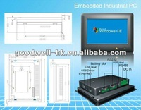Embedded Touchscreen 7 Inch Battery powered Mini pc with Lan port