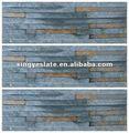 Oxidado parede sanduíche de pedra ardósia da cultura