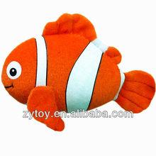 suave peluche de felpa globo de juguete de pescado