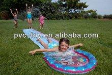 inflatable PVC vinyl spraying Slip And Slide Race blue