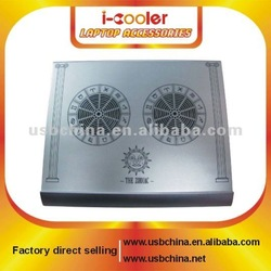 Zodiac double fans Laptop cooling pad with Aluminum material