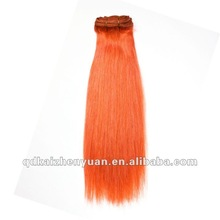 High quality 22'' Orange hair Weft directly at factory price