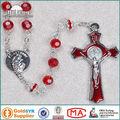 Christian roja esmaltado st. Benito rosario