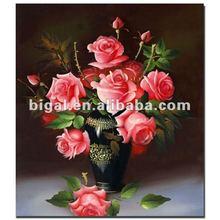 high quality flower rose handmade oil painting