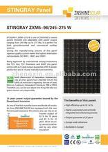 Znshine Gallium Doped Mono-crystaline Solar Panel/PV Module Mono 250W 255W 260W 265W 270W 275W
