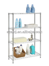4 level chrome metal wire shelf
