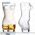 personalizado de lujo único 2l gran dama de la taza grande en forma de mujer de vidrio de cerveza