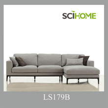 Hot selling modern corner sofa 3 seater plus chaise lounge