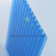 100% virgin material plastic sheet light diffuse lexan hollow polycarbonate sheet for solar panel
