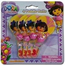 Dora The Explorer 4Pk Mini Paddle Ball Game