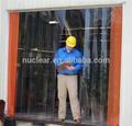 Pvc transparente cortina de la tira llevada y flexible claro pvc hoja suave