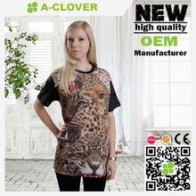 Free sexy girl cool fashion design leopard print women tshirt