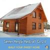 wooden garden house from poland prefab wooden villa Wooden house timber frame homes summer house