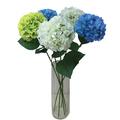 real toque de seda azul hortênsia arranjo de flores
