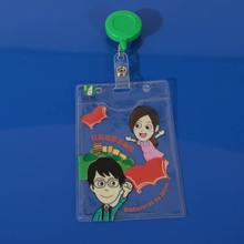 The factory direct sale custom design soft pvc badge holders/id card holder