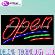 CE RoHS Offer good quality 60X30X2.5cm rectangle flashing neon led open sign board
