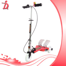Hot sale Adjustablet kids kick baby space scooter adult flicker scooter flicker 3 wheel double pedal bicycle scooter