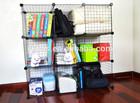 DIY folding wire mesh storage shelf