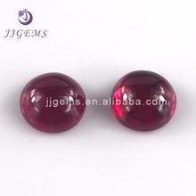 Man made 12mm dark red 7# round corundum ruby cabochon gemstone