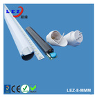 T8 tube accessories for LED T8 light with pc cover lampshade and aluminum shell