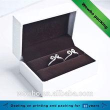 Decorative luxury white jewelry wedding ring paper box