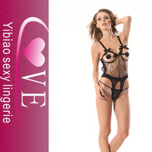 Fashion ladies padded underwired mesh sexy sexy teddy