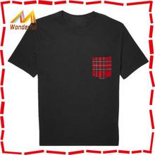 Factory bulk wholesale 100% cotton advertising t-shirt men promotional t-shirt with pocket