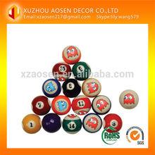 custom logo billiard ball/custom made pool ball/snooker ball
