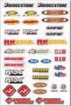 Kühl/selbstklebende anpassen fahrrad-logo-aufkleber label