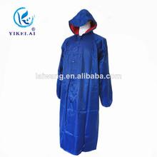 Folding long Oxford raincoat / manufacturer hot sale long raincoat