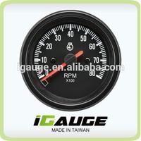 85mm auto gauge 8000 rpm tachometer for Yacht marine