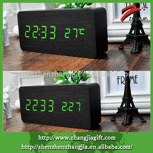 2015 Decorative Click Alarm Led Wood Clock