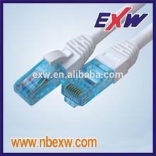 High quality, ETL UL Delta certified, 100% Fluke tested White LSZH UTP Cat6 Patch cord