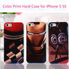 Factory Supply Portable Colorful Photo Printing Hard PC Protective Case Color Back Plate Cover Shell for iPhone 5 5S