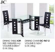 K39/DC-967-2 Classic Dining Room Sets/Canteen Chairs & Table/Covers for Dining Room Chairs/Italian Baroque Furniture