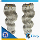 quality high good selling princess european grey remy human hair weave