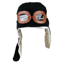 Winter children baby hat with ears warm earflap cap knitted cute shape hat 7753