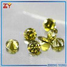 Brilliant Cut Bright Peridot Gems Round Peridot Gemstone