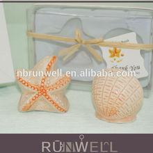 2014 wedding door gift star fish and shell salt and pepper shaker indian wedding return gift