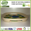 Food tray with decal priting using natural bamboo fibre