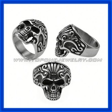 factory price newest cheap men's skull ring