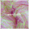Digital printed silk chiffon fabric for evening dress