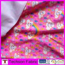 Soft children cotton printed fabric,cotton jersey print fabric for children
